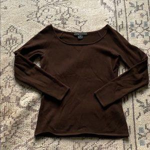 Ralph Lauren 100% cashmere dark brown sweater